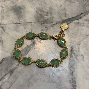 Kendra Scott bracelet in gold with green stones